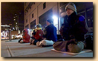 Falun Gong street protest