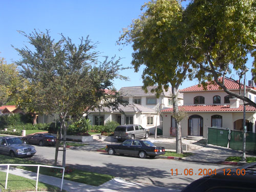 Berg row in Beverly Hills