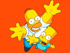 Dad and Bart Simpson
