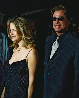 Preston with husband Travolta