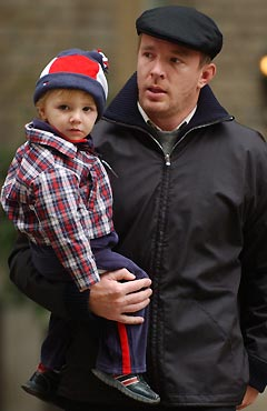 Guy Ritchie with Rocco