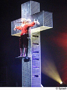 Madonna on her cross