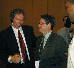 Kip McKean (left) with 'disciple'